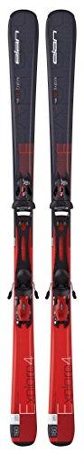 Elan Explore 4 Red Plate Ski and El 10.0 Ski Bindings, Red, 160