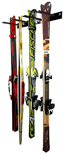 Ski Wall Storage Rack | Steel Home and Garage Skis Mount | StoreYourBoard
