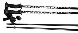 WSD Ski Poles Adult Model Aluminum Alpine Downhill Ski Poles Pair New, 48″ L, Black/Silver