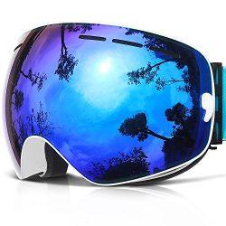 Ski Goggles,COPOZZ G1 Mens Womens Ski Snowboard Snowboarding Goggles – Over Glasses Double ...