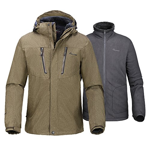 Outdoormaster Mens 3 In 1 Ski Jacket Winter Jacket Set
