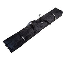 170 FULLY PADDED DOUBLE SKI BAG W/WHEELS- BLACK