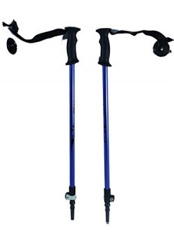 Ski poles Telescopic adjustable Collapsible kids junior downhill /alpine ski poles pair with bas ...