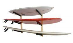 Surfboard Wall Rack | Basic Wood Surf Rack | 3 Boards | StoreYourBoard