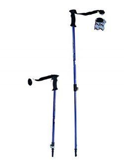 Ski poles Speedlock alpine/downhill Kids Junior size adjustable telescopic ski poles pair with b ...
