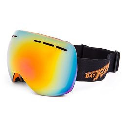 SUNVP Ski Snowboard Snowmobile Goggles with Windproof UV400 Protection Anti-fog Spherical Double ...