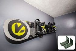 Naked Snow | Snowboard Display Wall Rack | Powder Coat Black | StoreYourBoard