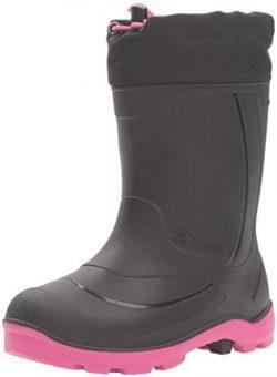 Kamik Girls' Snobuster1 Snow Boot, Black/Magenta, 9 Medium US Toddler