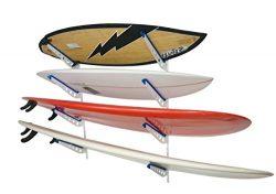 Metal Surfboard Storage Rack | 4 Surf Adjustable Wall Mount | StoreYourBoard