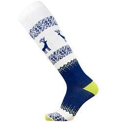 Warm Ski Socks – Ugly Sweater Deer Sock for Skiing – Merino Wool Winter, Snowboard S ...
