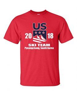 All Things Apparel United States Downhill Ski Team Men's T-Shirt – Small Red (ATA1735)