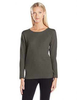 Duofold Women's Mid Weight Wicking Thermal Shirt, Granite Heather, XL