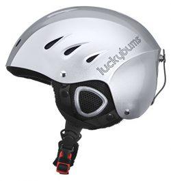 Lucky Bums Snow Sport Helmet with Fleece Liner, Silver, Medium