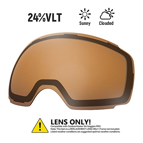 outdoormaster ski goggles pro replacement lens 20