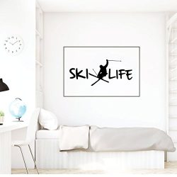 Ski Wall Decor – Personalized Decal -Vinyl Decorations for Home Decor, Bedroom, Playroom O ...