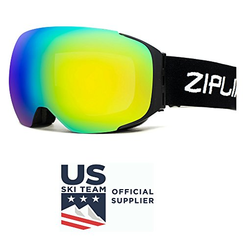 Zipline Podium Ski / Snowboard / Snowmobile Goggles – No Fog – Interchangeable Magne ...