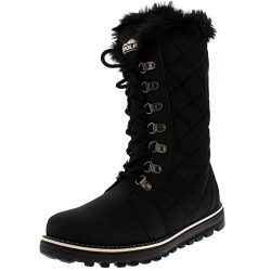 Polar Products Womens Quilted Comfy Winter Rain Warm Snow Knee High Boot – Black – U ...