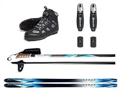 Adult NNN Nordic Cross Country Skis Binding Boots Poles Package 197cm, 151-180lbs (45)