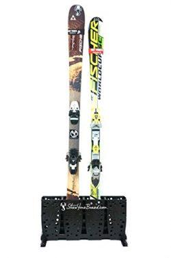 Ski Storage Rack | Freestanding 4 Pair Skis Floor Rack | StoreYourBoard (Wide Skis)