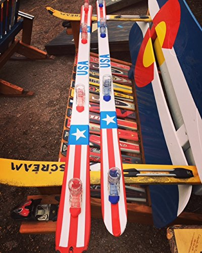 """USA"" Hand Painted Shot Ski With Removable Bindings"