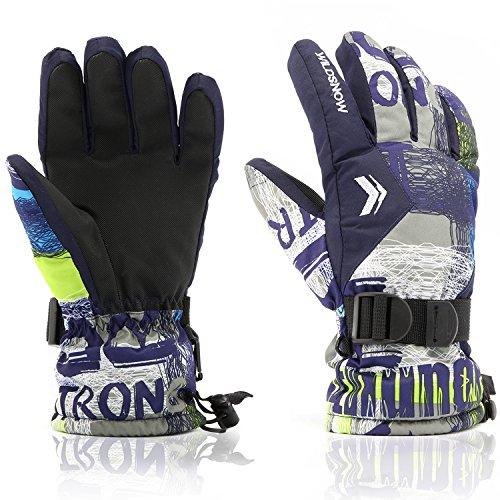 Ski Gloves,RunRRIn Winter Warmest Waterproof and