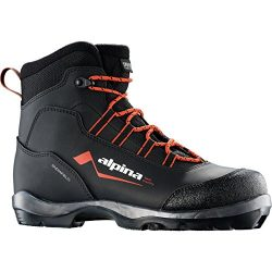 Alpina Sports Snowfield Backcountry Cross Country Nordic Touring Ski Boots, Black/Orange/White,  ...