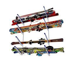 Metal Ski Storage Rack | Adjustable Skis Home Wall Mount | StoreYourBoard
