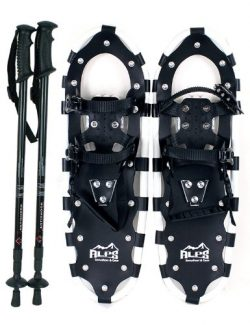Alps All Terrian Snowshoes 25″ + pair antishock adjustable snowshoeing pole (black) + free ...