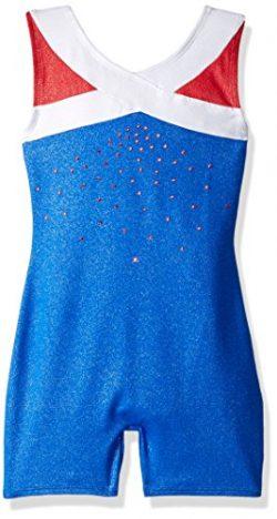 Freestyle by Danskin Big Girls' Gymnastics Biketard, True Blue, M