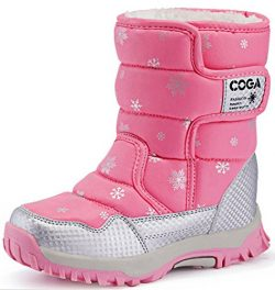 DADAWEN Boy's Girl's Outdoor Waterproof Cold Weather Snow Boots(Toddler/Little Kid/B ...