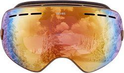 Traverse Virgata Ski, Snowboard, and Snowmobile Goggles, Stone with Opal REVO Lens