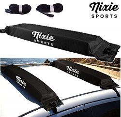 Universal Soft Roof Rack by Nixie Sports – 34″ Wide for Kayaks, Canoes, Surf Boards  ...