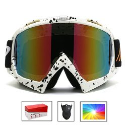 Feier Yusi Ski Snowboard Motorcycle Goggles for Men Women Youth,Outdoor Tactical Glasses with Co ...