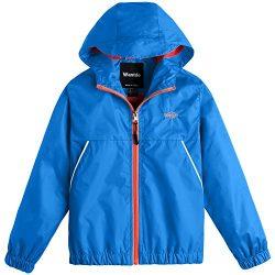 Wantdo Boy's Light Weight Spring Jacket Hooded Wind Breaker Packable Mesh Lined Rainwear(A ...