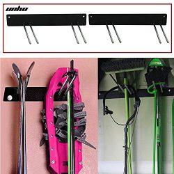 UNHO Ski Board Snowboard Rack Wall Mounted Hanger Display Garden Tool Racks Storage Holder for B ...