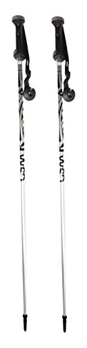 WSD Adult Aluminum Alpine Downhill Ski Poles Pair with Baskets, 47″ L, Silver