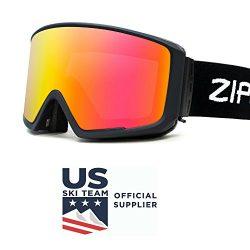 Zipline Podium CL Ski / Snowboard Goggles – No Fog – 6 Lens Interchangeable Magnetic ...