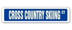 CROSS COUNTRY SKIING Street Sign race racer competition ski supplies| Indoor/Outdoor |18″ ...