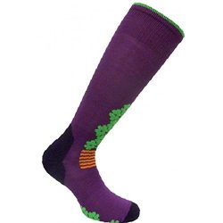 Eurosocks Women's Snowdrop Skiing Socks, Plum, Large