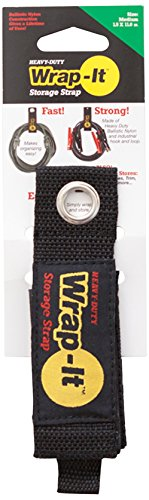 Wrap-It Storage 100-20B Straps, Medium, Black
