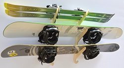 Snowboard Ski Hanging Wall Rack — Holds 3 Boards