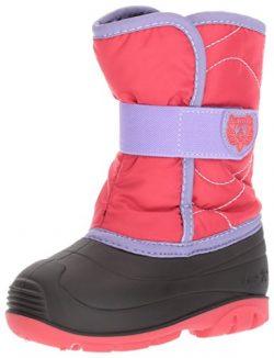 Kamik Girls' Snowbug3 Snow Boot, Dark Rose/Lilac, 8 Medium US Toddler