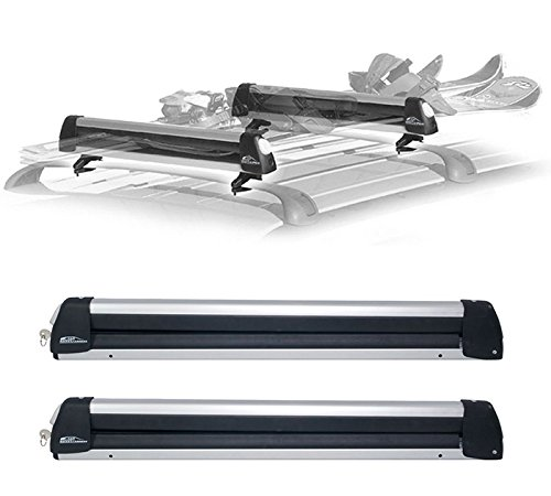 Rooftop Snowrack Plus Ski Rack For Cars Fits 6 Pairs Skis
