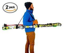 Set of 2 Ski and Pole Carriers | Adjustable Ski Shoulder Strap | StoreYourBoard