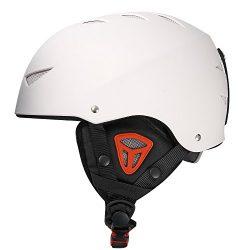 Outer Shell Ski Helmet Convertible Skateboard Helmet with Quick Adjustment White M