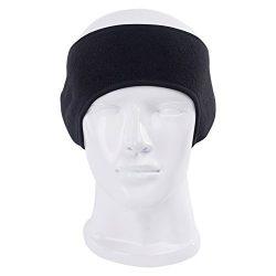 Windproof Fleece Thermal Headbands Ear Warmers Winter Sports Stretchy Riding Running Warm Ear Mu ...