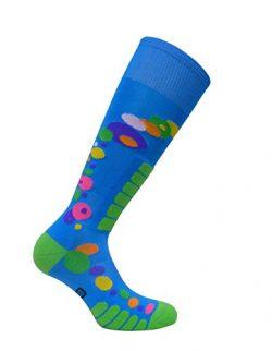 Eurosocks Women's Free Style Silver Socks, Royal, Medium
