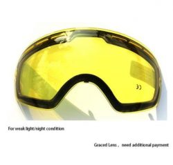 COPOZZ Double Brightening Lens Ski Goggles Night Of Model Number GOG-201 For Weak Light Tint Wea ...