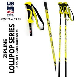 "Junior Ski Poles Kids – Carbon Composite Graphite – Zipline ""Lollipop"" J ..."