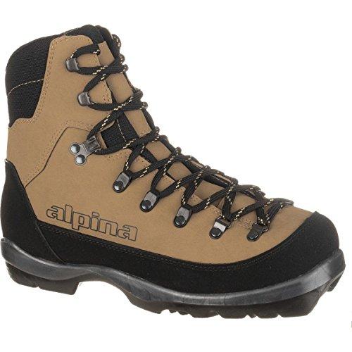 Alpina Sports Montana Backcountry Cross Country Nordic Ski Boots, Euro 45, Brown/Black